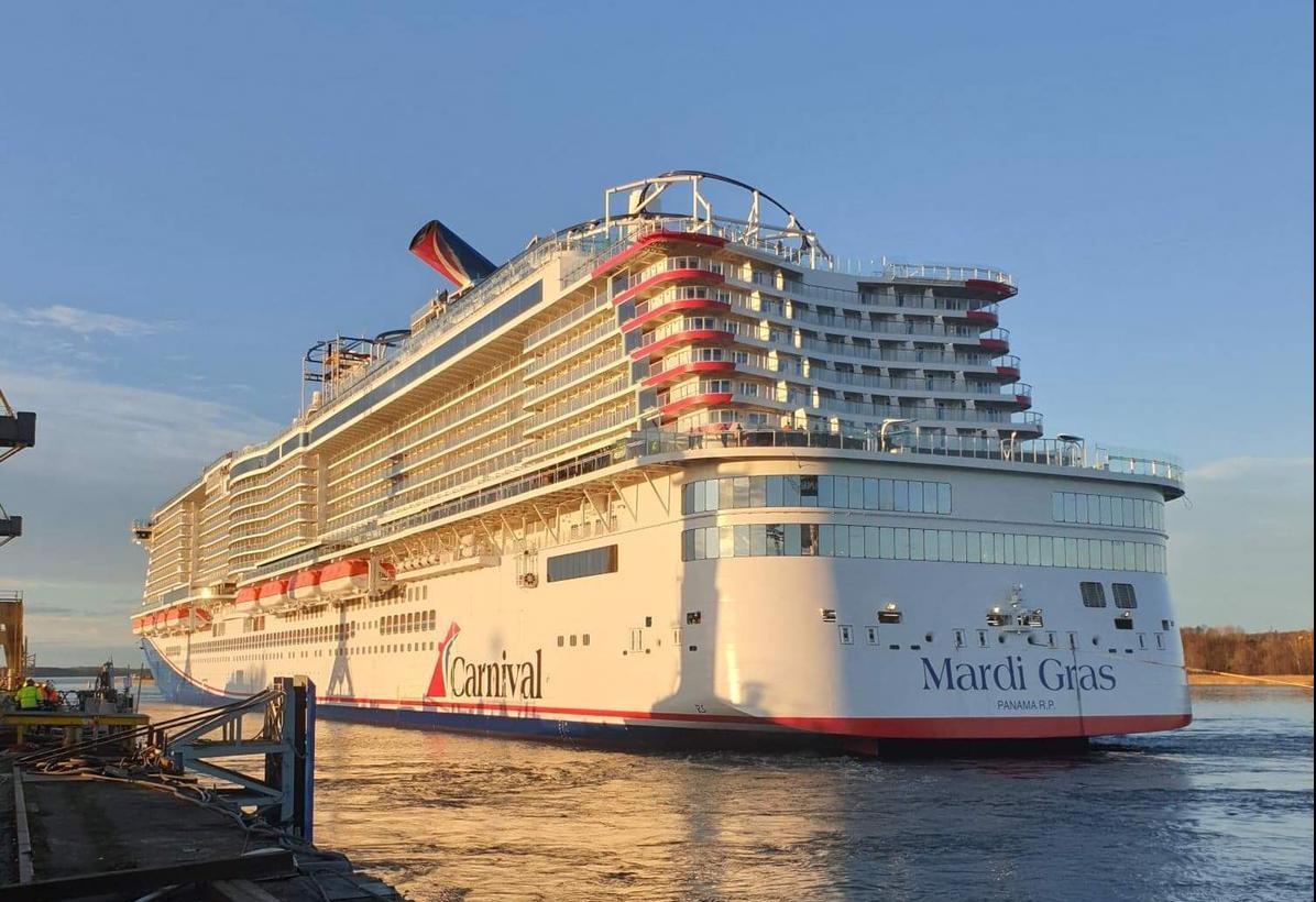 Barco de cruceros Mardi Gras de Carnival Cruise Line