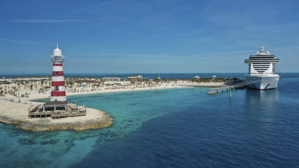 MSC Seaside en Ocean Cay MSC Marine Reserve, la isla privada de MSC Cruceros en el Caribe