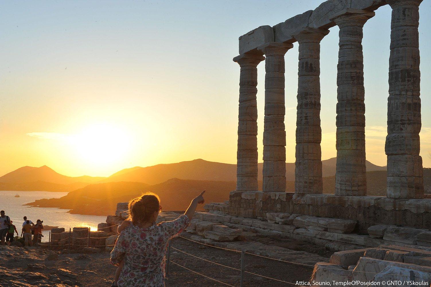 Templo de Poseidon en Lavrion, Islas Griegas